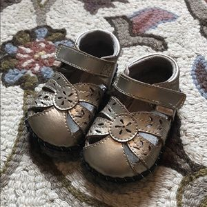 Pediped 6-12 Month New Walker Gold Shoes